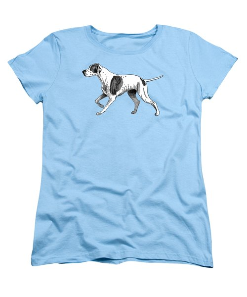 Vintage German Shorthaired Pointer Women's T-Shirt (Standard Cut) by Marian Cates