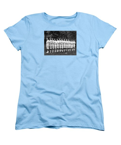 Vintage Photo Of Women's Baseball Team Women's T-Shirt (Standard Cut) by American School