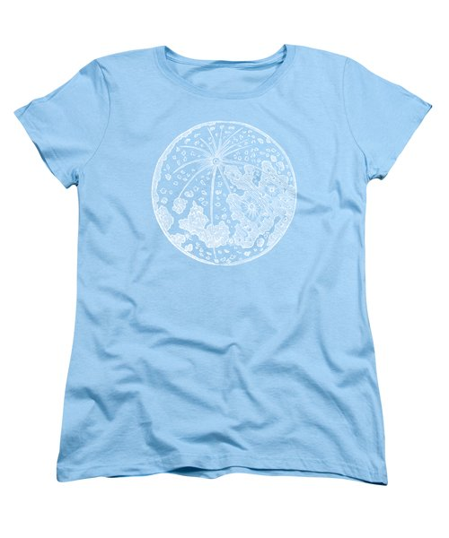 Vintage Planet Tee Blue Women's T-Shirt (Standard Cut) by Edward Fielding