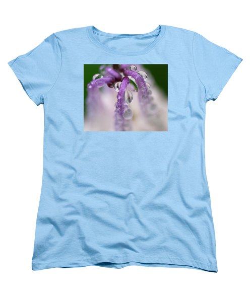 Women's T-Shirt (Standard Cut) featuring the photograph Violet Mist by Susan Capuano