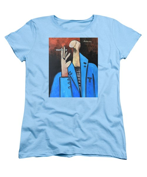 Vitae The Smoker In A Blue Blazer  Women's T-Shirt (Standard Cut)