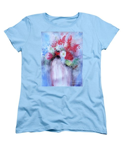 Women's T-Shirt (Standard Cut) featuring the painting Vitality Still Life by Jasna Dragun