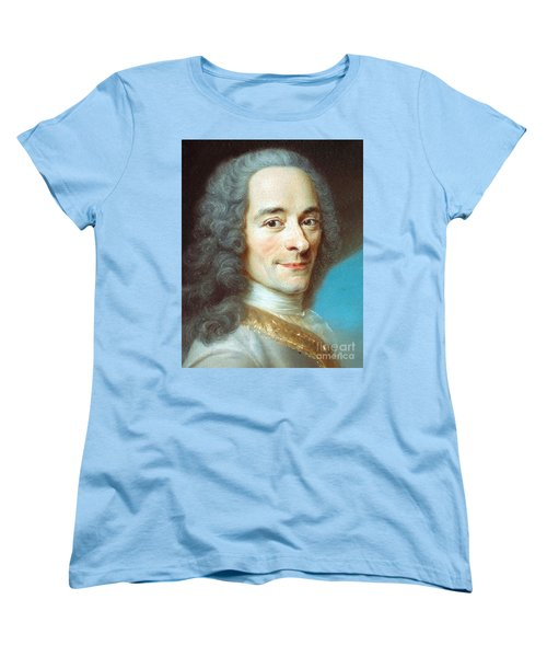 Women's T-Shirt (Standard Cut) featuring the painting Voltaire by Pg Reproductions
