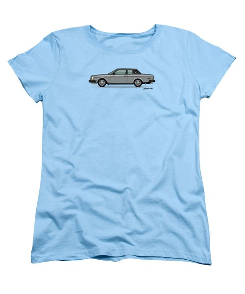 Volvo 262c Bertone Brick Coupe 200 Series Silver Women's T-Shirt (Standard Cut) by Monkey Crisis On Mars