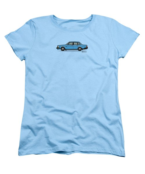 Volvo Brick 244 240 Sedan Brick Blue Women's T-Shirt (Standard Cut) by Monkey Crisis On Mars