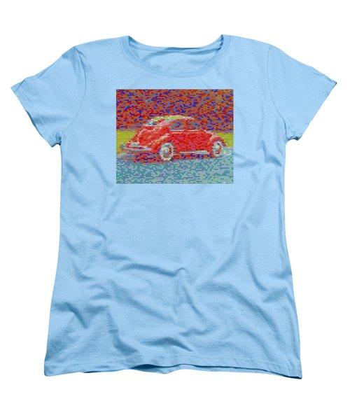 Women's T-Shirt (Standard Cut) featuring the digital art Vw Bug Pez Mosaic by Paul Van Scott