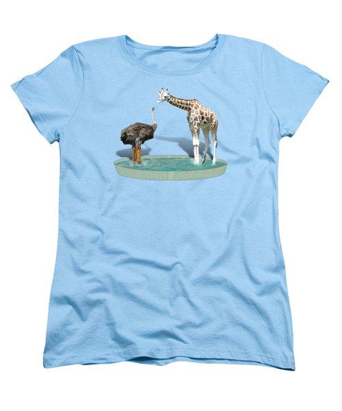 Wading Pool Women's T-Shirt (Standard Cut) by Gravityx9  Designs