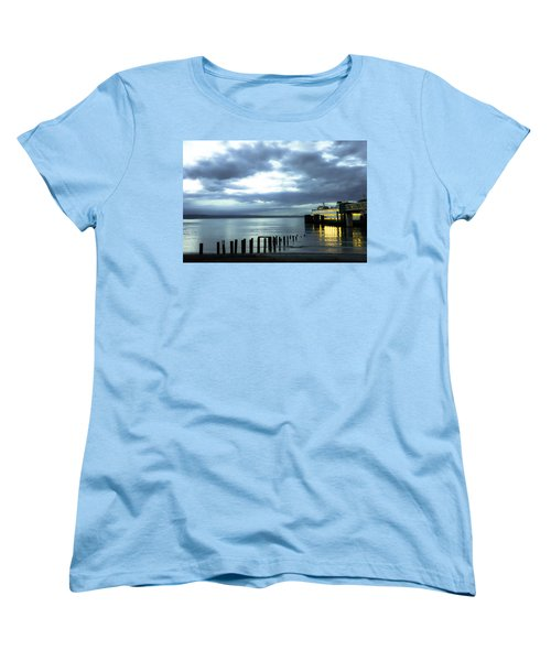 Waiting For The Ferry Women's T-Shirt (Standard Cut) by Ronda Broatch