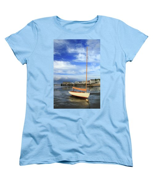 Waiting For The Tide Women's T-Shirt (Standard Cut) by Roupen  Baker