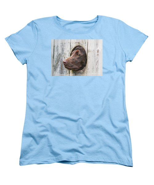 Women's T-Shirt (Standard Cut) featuring the photograph Waiting On Master by Robert Pearson