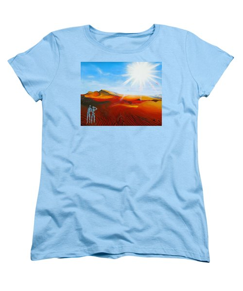Walk A Mile Women's T-Shirt (Standard Cut) by Raymond Perez