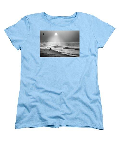 Women's T-Shirt (Standard Cut) featuring the photograph Walk Beneath The Moon by Karen Wiles