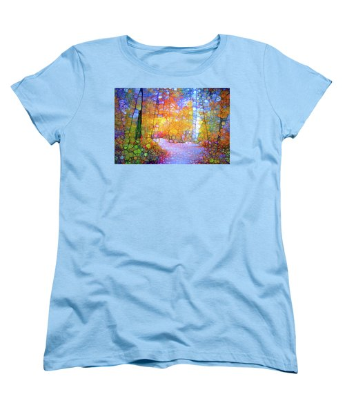 Women's T-Shirt (Standard Cut) featuring the digital art Walk With Me by Tara Turner