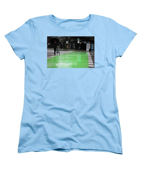 Women's T-Shirt (Standard Cut) featuring the photograph Walk With Wheels  by Empty Wall