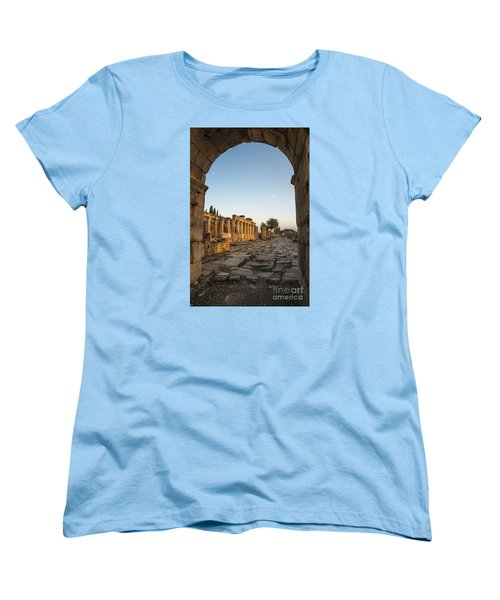 Women's T-Shirt (Standard Cut) featuring the photograph Walking The History In Hierapolis by Yuri Santin