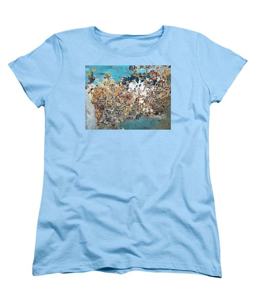 Women's T-Shirt (Standard Cut) featuring the photograph Wall Abstract 106 by Maria Huntley