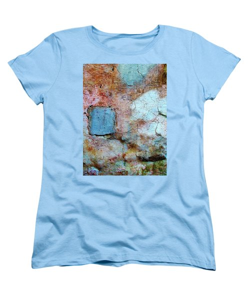 Women's T-Shirt (Standard Cut) featuring the photograph Wall Abstract 138 by Maria Huntley