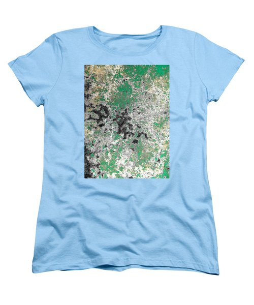 Women's T-Shirt (Standard Cut) featuring the photograph Wall Abstract 160 by Maria Huntley