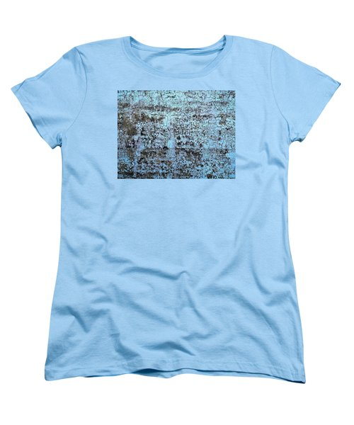 Women's T-Shirt (Standard Cut) featuring the photograph Wall Abstract 163 by Maria Huntley