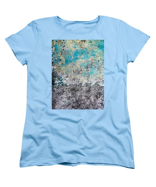 Women's T-Shirt (Standard Cut) featuring the photograph Wall Abstract 174 by Maria Huntley