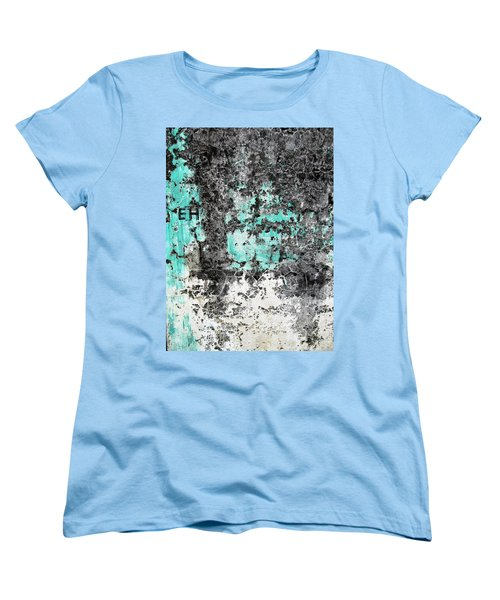 Women's T-Shirt (Standard Cut) featuring the photograph Wall Abstract 185 by Maria Huntley