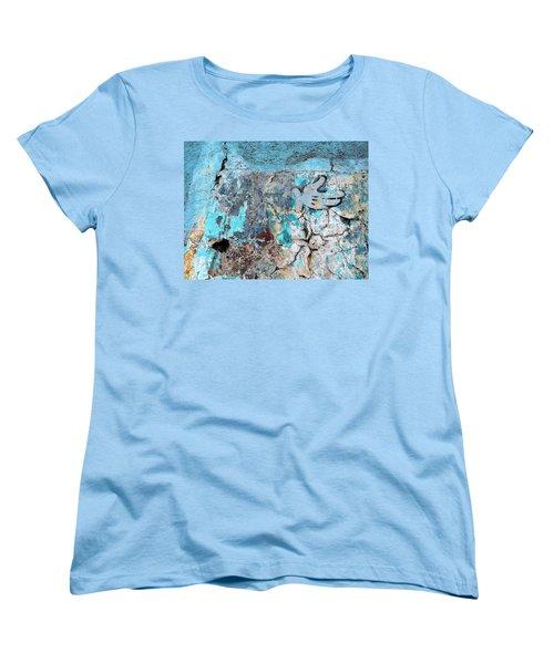 Wall Abstract 211 Women's T-Shirt (Standard Cut) by Maria Huntley