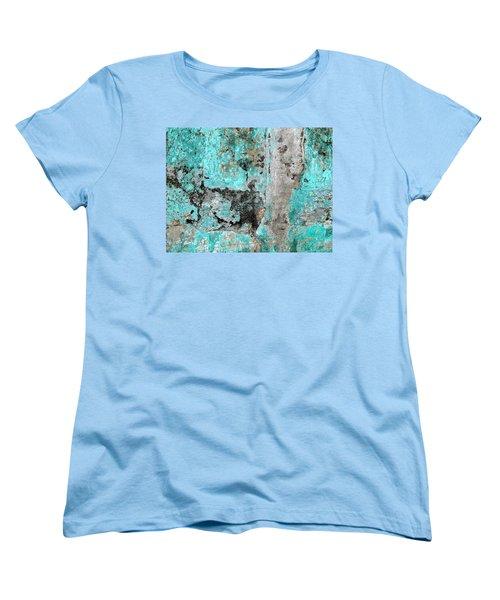 Wall Abstract 219 Women's T-Shirt (Standard Cut) by Maria Huntley