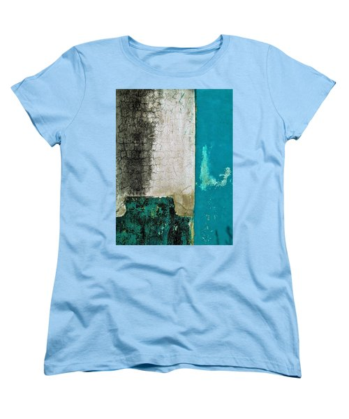 Women's T-Shirt (Standard Cut) featuring the photograph Wall Abstract 296 by Maria Huntley