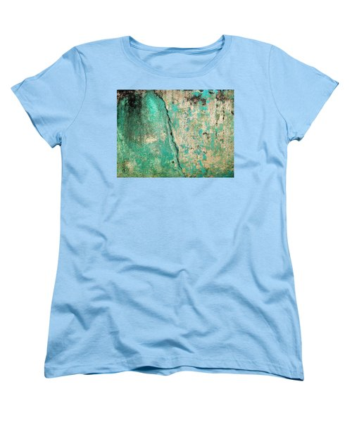 Women's T-Shirt (Standard Cut) featuring the photograph Wall Abstract 97 by Maria Huntley