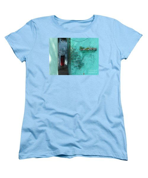 Women's T-Shirt (Standard Cut) featuring the photograph Walls by Jean luc Comperat