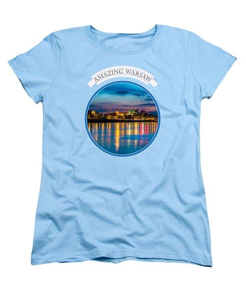 Warsaw Souvenir T-shirt Design 1 Blue Women's T-Shirt (Standard Cut) by Julis Simo