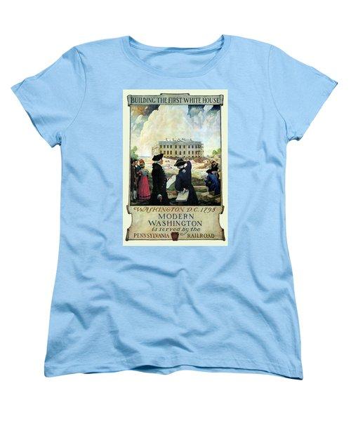 Washington D C Vintage Travel 1932 Women's T-Shirt (Standard Cut) by Daniel Hagerman