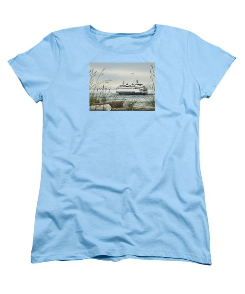 Washington State Ferry Women's T-Shirt (Standard Cut) by James Williamson