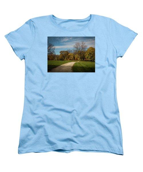 Women's T-Shirt (Standard Cut) featuring the photograph Washington Walkway by Kimberly Mackowski