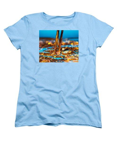 Water And Oil Women's T-Shirt (Standard Cut) by Setsiri Silapasuwanchai