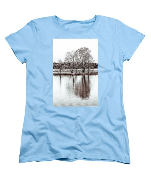 Women's T-Shirt (Standard Cut) featuring the photograph Water And Trees by Wade Brooks