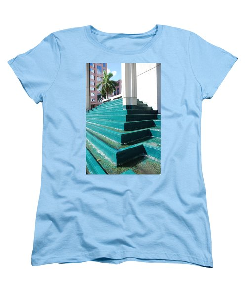 Women's T-Shirt (Standard Cut) featuring the photograph Water At The Federl Courthouse by Rob Hans