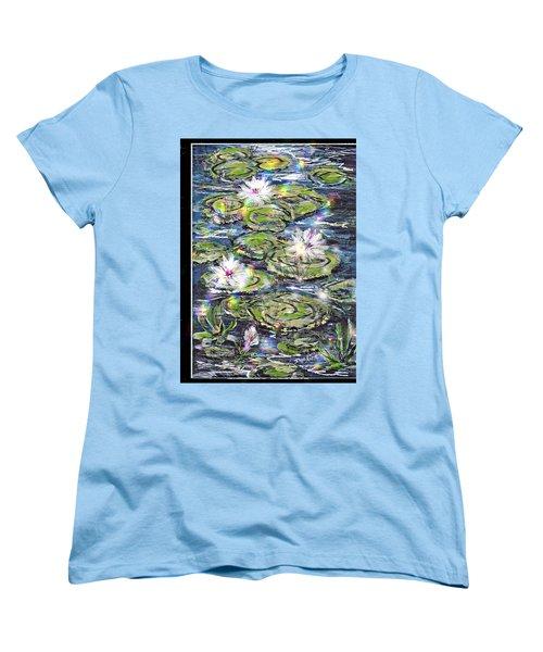 Water Lilies And Rainbows Women's T-Shirt (Standard Cut)