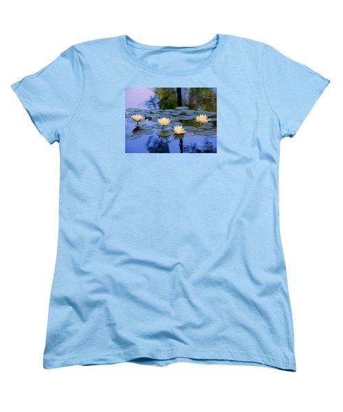 Water Lilies Women's T-Shirt (Standard Cut) by Lisa L Silva