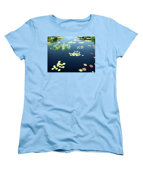 Women's T-Shirt (Standard Cut) featuring the photograph Water Lilies by Marilyn Hunt