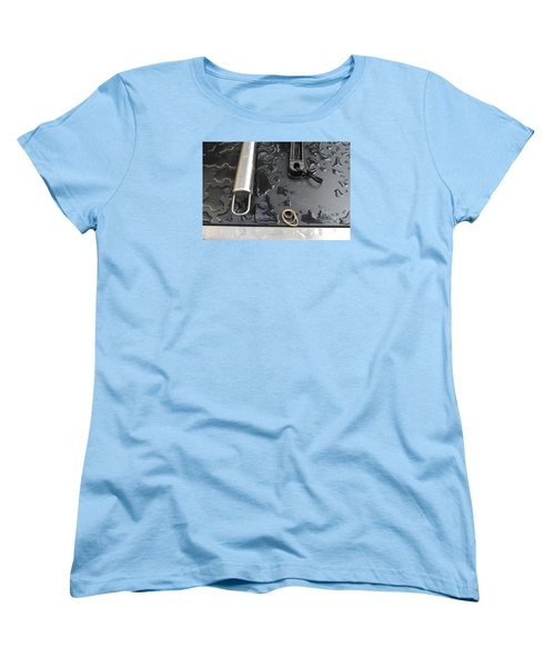 Women's T-Shirt (Standard Cut) featuring the photograph Water On The Bbq  by Lyle Crump