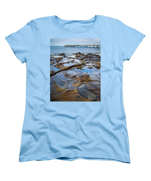 Women's T-Shirt (Standard Cut) featuring the photograph Water Pool by Perry Webster