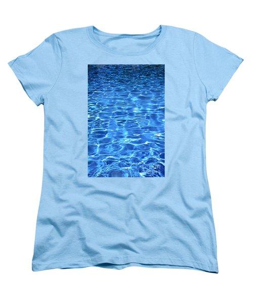 Women's T-Shirt (Standard Cut) featuring the photograph Water Shadows by Ramona Matei