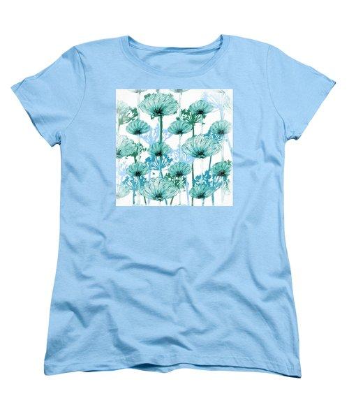 Women's T-Shirt (Standard Cut) featuring the digital art Watercolor Dandelions by Bonnie Bruno