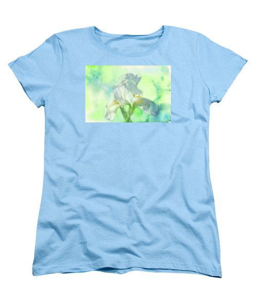 Watercolor Iris Women's T-Shirt (Standard Cut) by Joan Bertucci