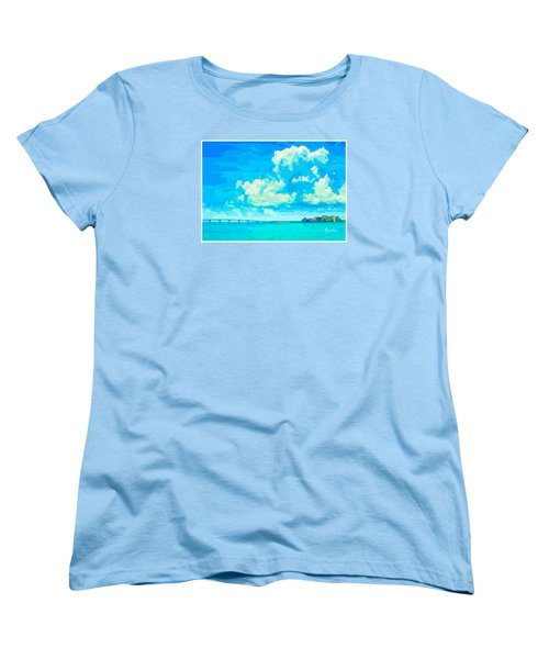 Watercolor Spring On Sarasota Bay Women's T-Shirt (Standard Cut) by Susan Molnar