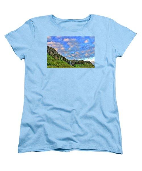 Women's T-Shirt (Standard Cut) featuring the photograph Waterfall Hill by Scott Mahon
