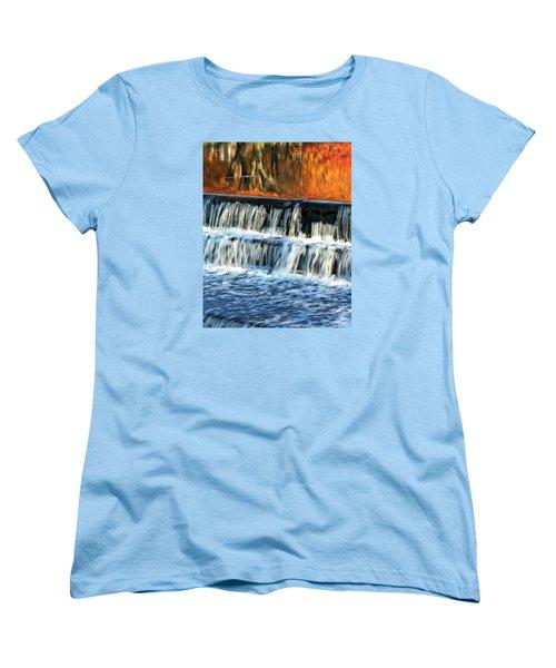 Waterfall In Downtown Waukesha Women's T-Shirt (Standard Cut)