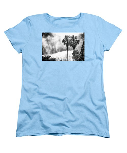 Women's T-Shirt (Standard Cut) featuring the photograph Waterfall Sounds by Hayato Matsumoto