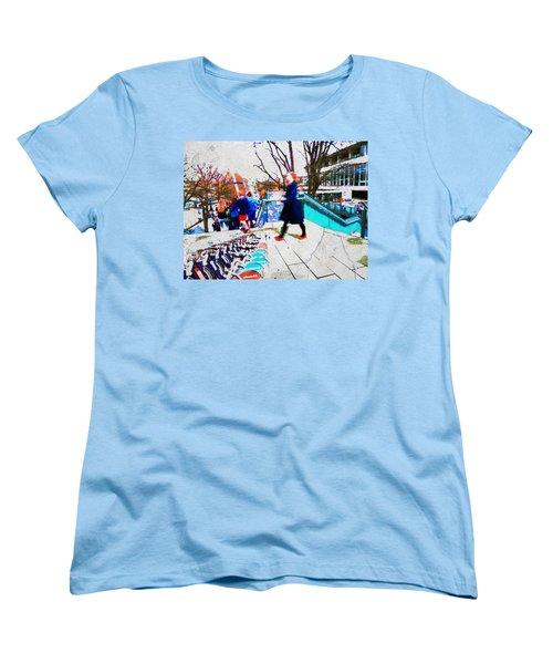 Waterloo Street Scene Women's T-Shirt (Standard Cut) by Judi Saunders